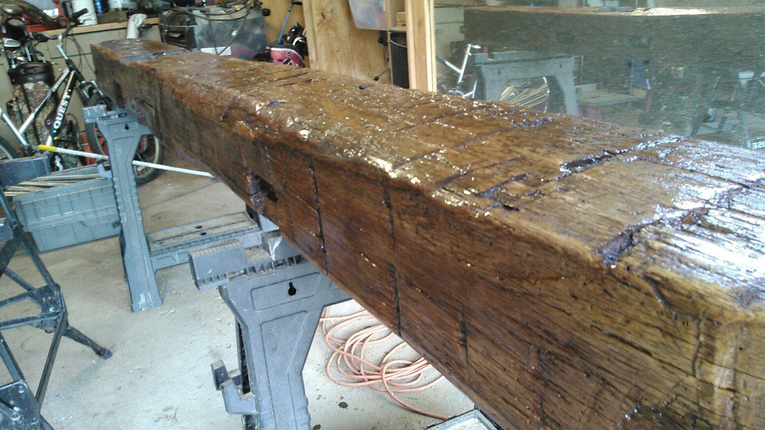 Hand hewn beams vintage barn beams for Reclaimed timber beams