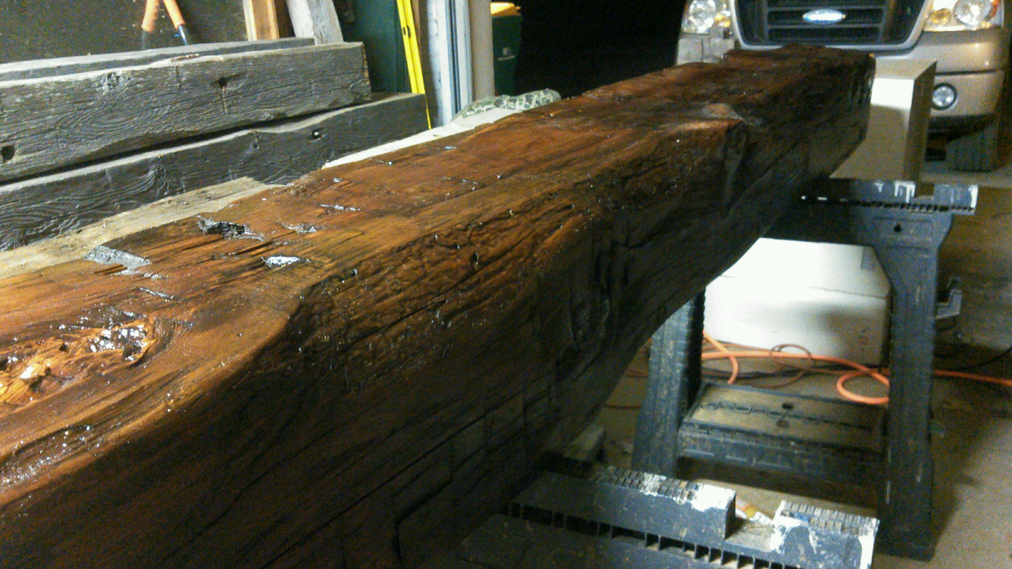 Hand hewn beams vintage barn beams for Salvaged timber beams