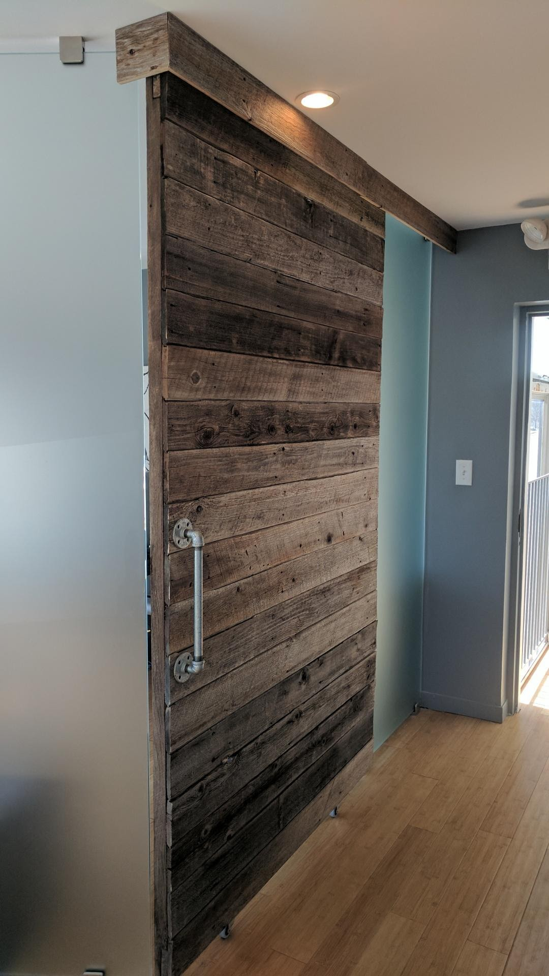 wall and reclaimed white pallet barn sq our siding ft produced wood is material wash barns ceiling per