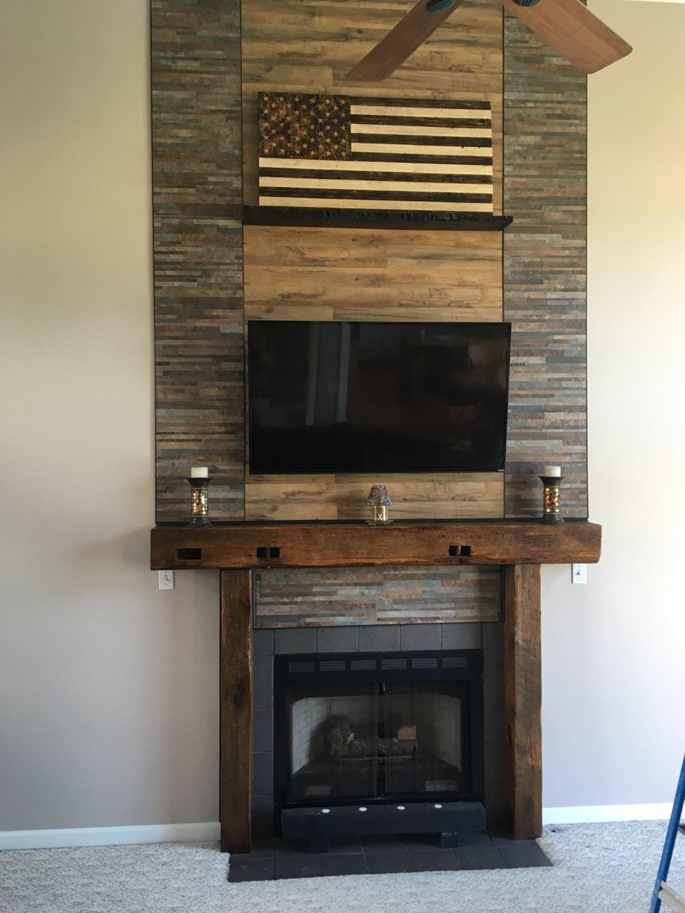 rustic fireplace mantels vintage barn beams